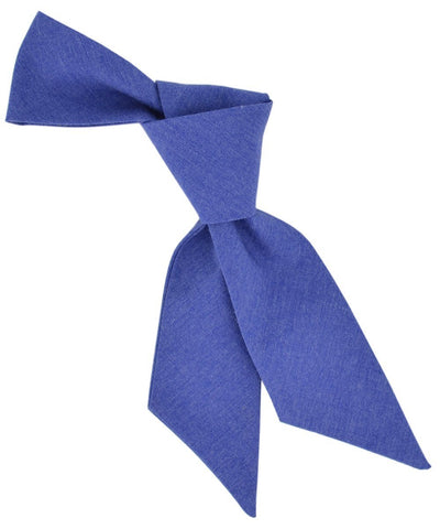 Solid Amparo Blue Cotton Hair Tie Tie Passion Womens Ties - Paul Malone.com
