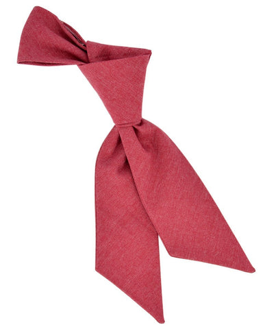 Solid Tango Red Cotton Women's Tie Tie Passion Womens Ties - Paul Malone.com