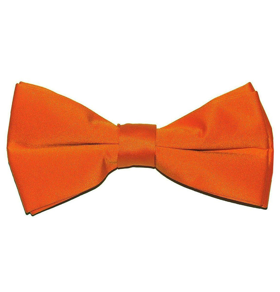Solid Orange Pre-Tied Bow Tie Paul Malone Bow Ties - Paul Malone.com