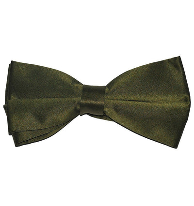 Solid Olive Green Pre-Tied Bow Tie Paul Malone Bow Ties - Paul Malone.com