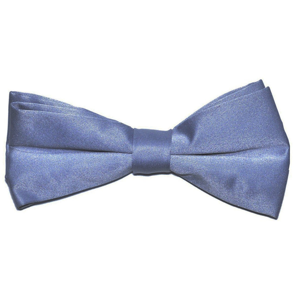 Solid Grey Pre-Tied Bow Tie Paul Malone Bow Ties - Paul Malone.com