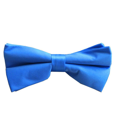 Solid Blue Pre-Tied Bow Tie Paul Malone Bow Ties - Paul Malone.com
