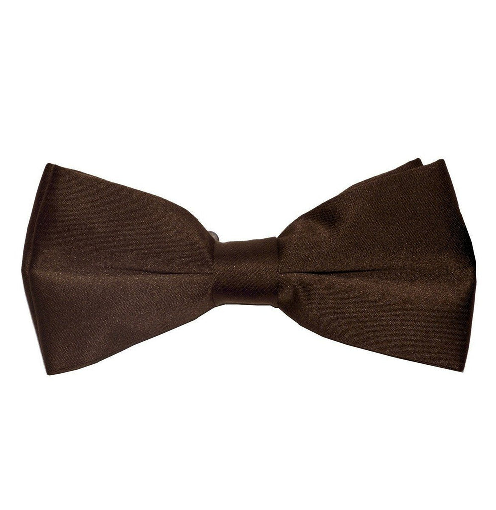 Solid Brown Pre-Tied Bow Tie Paul Malone Bow Ties - Paul Malone.com