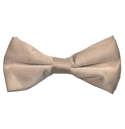 Solid Tan Pre-Tied Bow Tie Paul Malone Bow Ties - Paul Malone.com