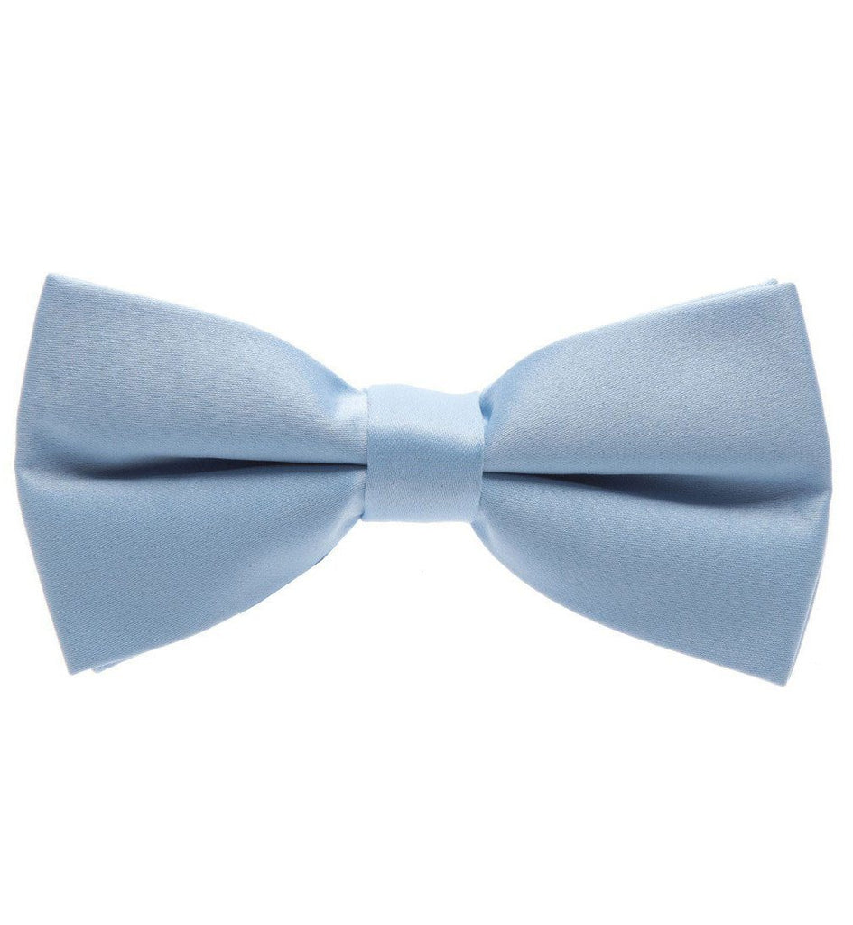 Solid Dark Silver Pre-Tied Bow Tie Paul Malone Bow Ties - Paul Malone.com