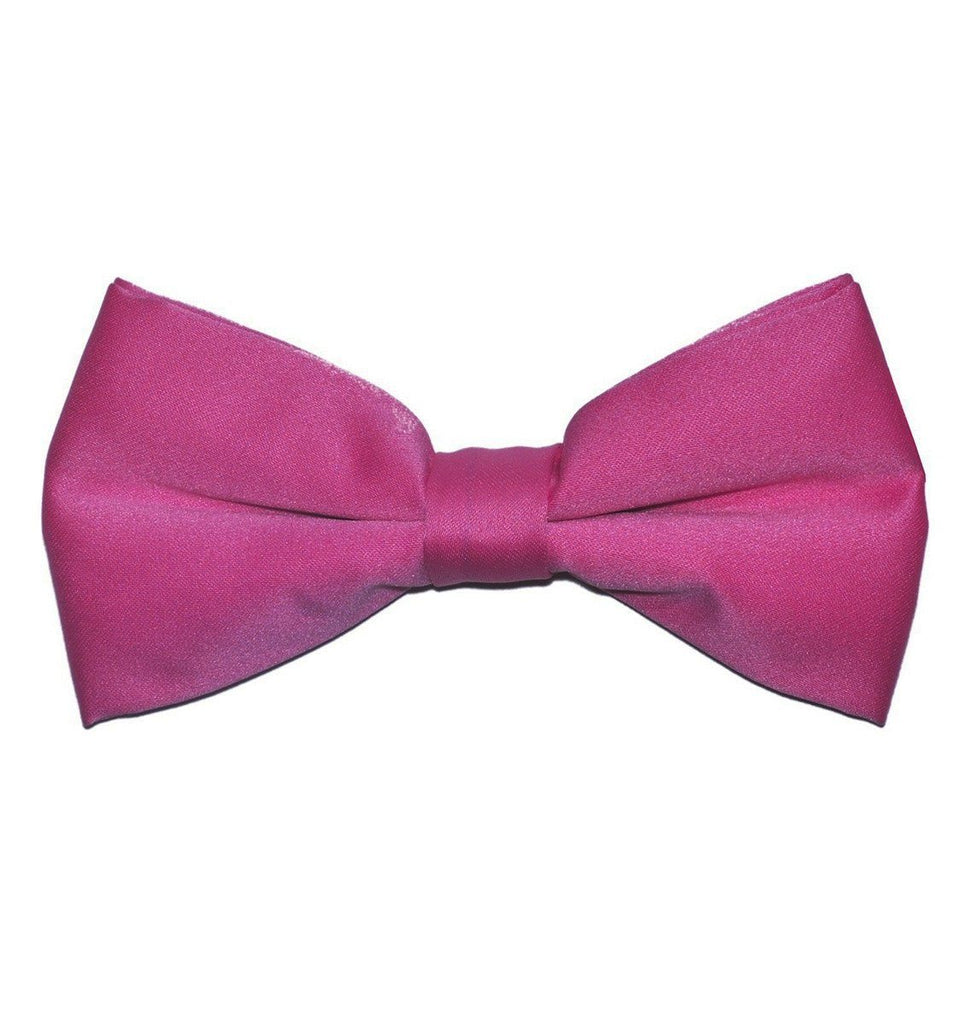 Solid Pink Pre-Tied Bow Tie Paul Malone Bow Ties - Paul Malone.com
