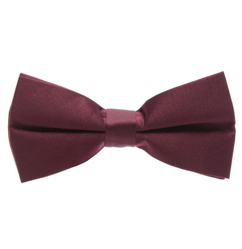 Solid Barn Red Pre-Tied Bow Tie Paul Malone Bow Ties - Paul Malone.com