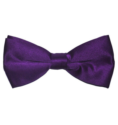 Solid Purple Pre-Tied Bow Tie Paul Malone Bow Ties - Paul Malone.com