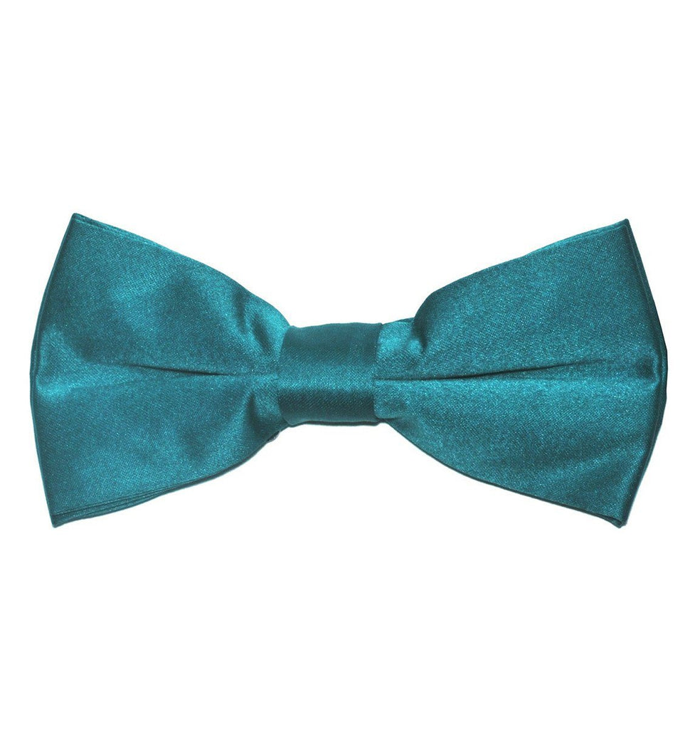 Solid Dark Teal Pre-Tied Bow Tie Paul Malone Bow Ties - Paul Malone.com