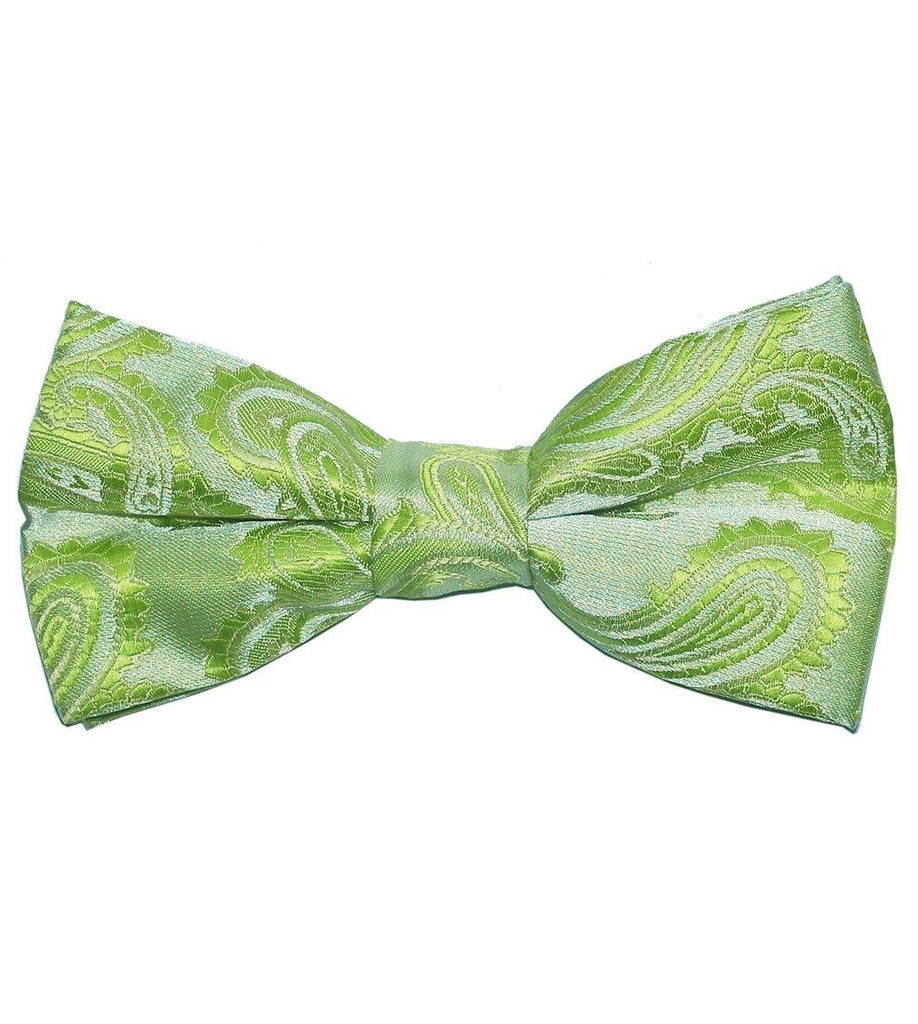 Lime Green Paisley Bow Tie Paul Malone Bow Ties - Paul Malone.com