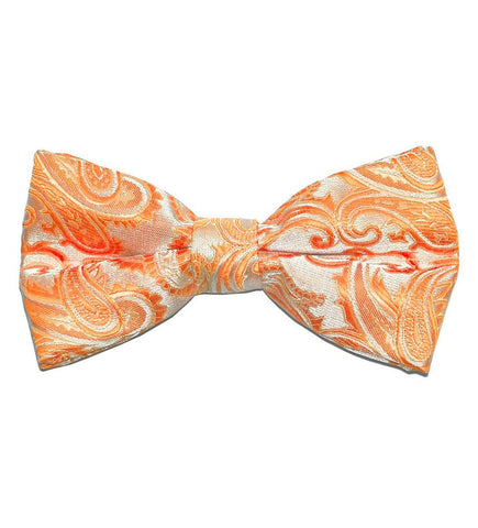 Blue Patterned Silk Bow Tie