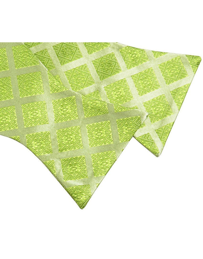 Lime Green Silk Bow Tie Paul Malone Bow Ties - Paul Malone.com
