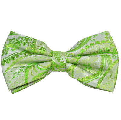 Lime Green Paisley Silk Bow Tie Paul Malone Bow Ties - Paul Malone.com