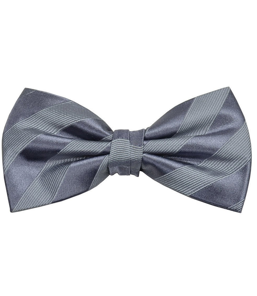 Grey Silk Bow Tie Paul Malone Bow Ties - Paul Malone.com