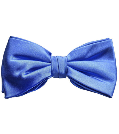Solid Blue Silk Bow Tie Paul Malone Bow Ties - Paul Malone.com