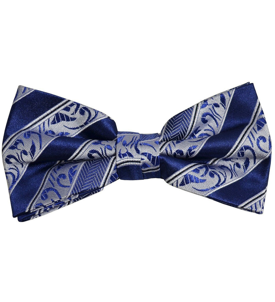 Blue Striped Silk Bow Tie Paul Malone Bow Ties - Paul Malone.com