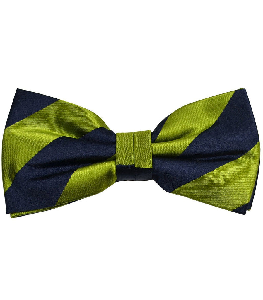 Green and Navy Silk Bow Tie Paul Malone Bow Ties - Paul Malone.com
