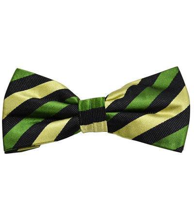 Green and Black Striped Silk Bow Tie Paul Malone Bow Ties - Paul Malone.com