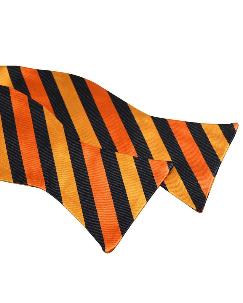 Orange and Black Silk Bow Tie Paul Malone Bow Ties - Paul Malone.com