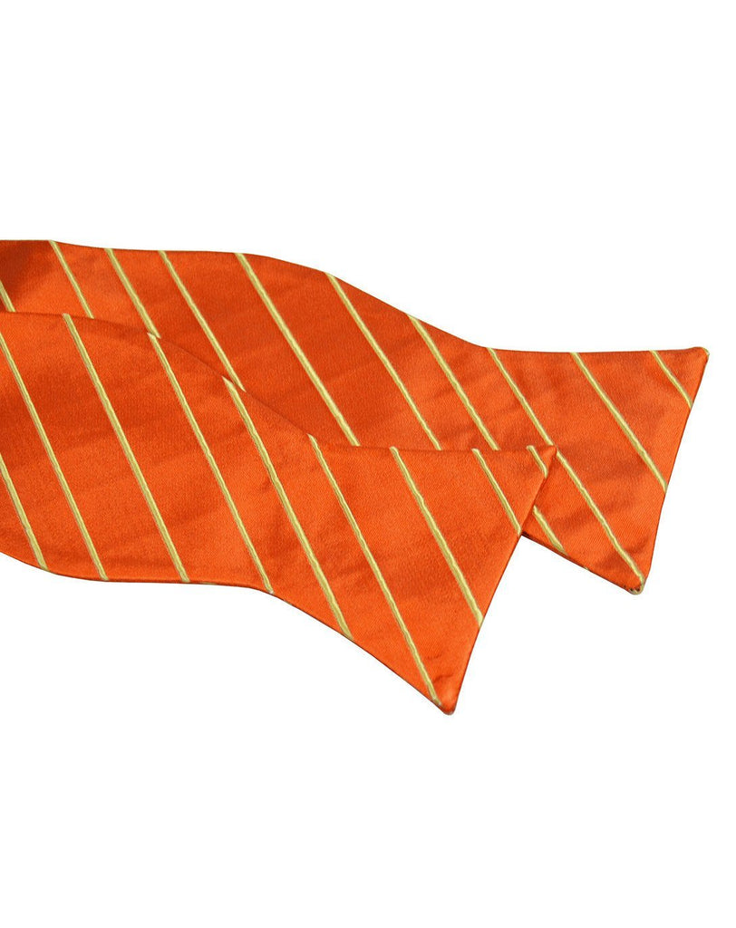 Orange and Yellow Striped Silk Bow Tie Paul Malone Bow Ties - Paul Malone.com