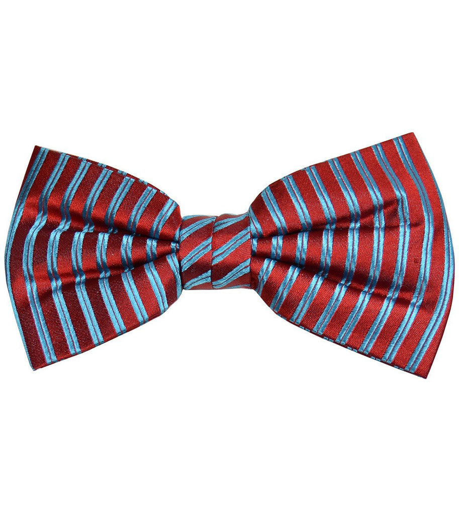 Red and Blue Striped Silk Bow Tie Paul Malone Bow Ties - Paul Malone.com