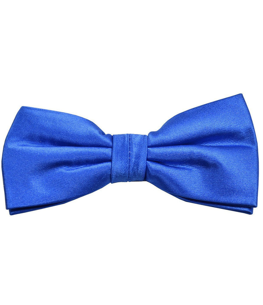 Solid Palace Blue Silk Bow Tie Paul Malone Bow Ties - Paul Malone.com