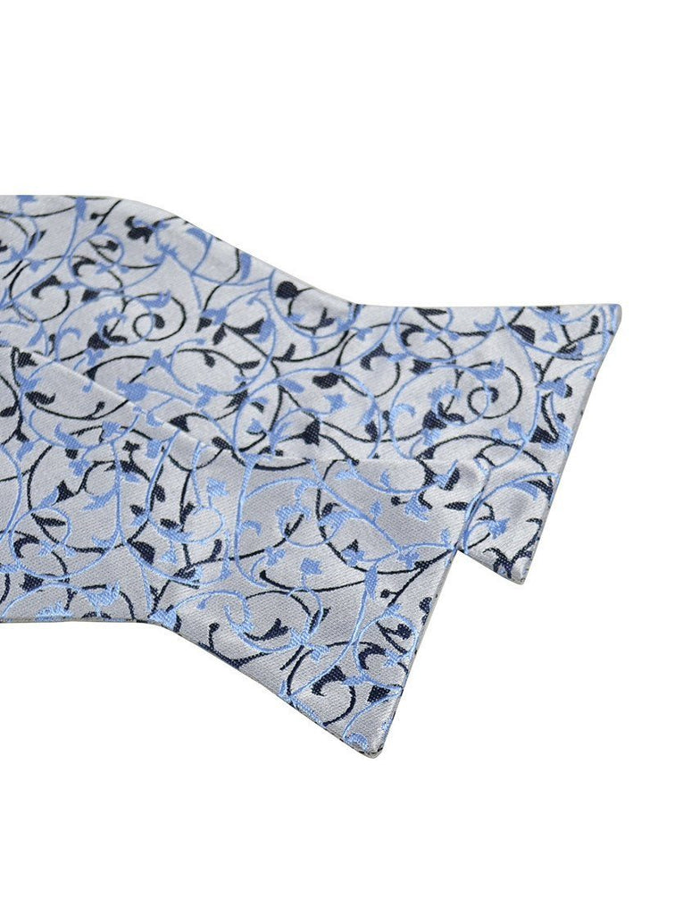 Blue Vines Silk Bow Tie Paul Malone Bow Ties - Paul Malone.com