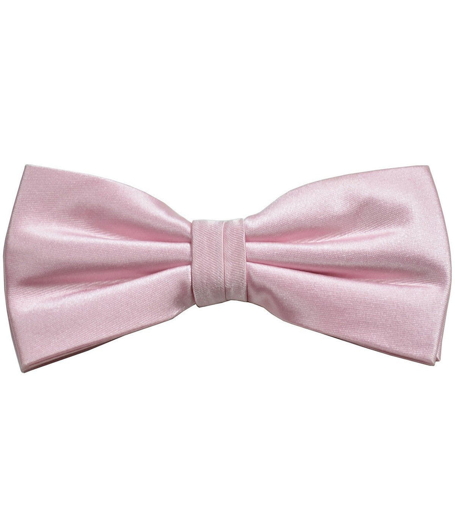 Solid Pink Mist Silk Bow Tie Paul Malone Bow Ties - Paul Malone.com