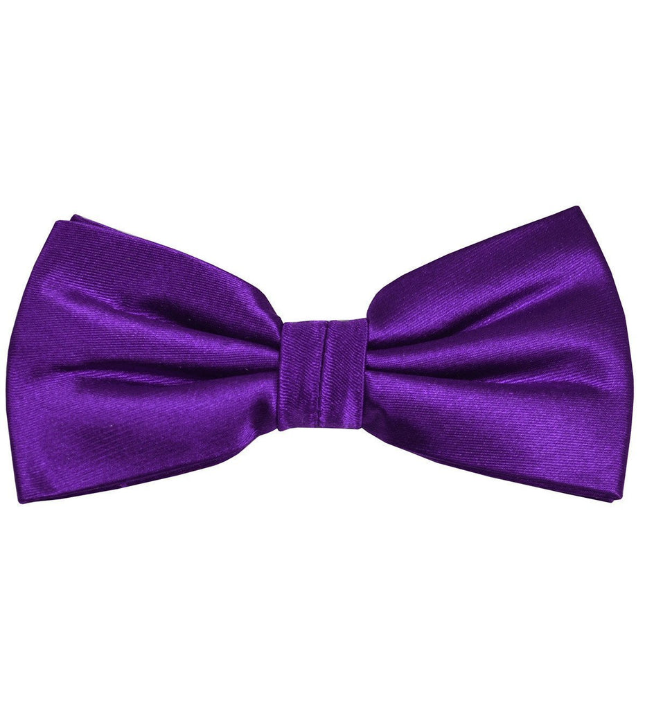 Solid Royal Grape Silk Bow Tie Paul Malone Bow Ties - Paul Malone.com