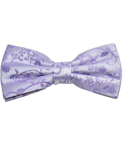 Dark Purple Paisley Silk Bow Tie