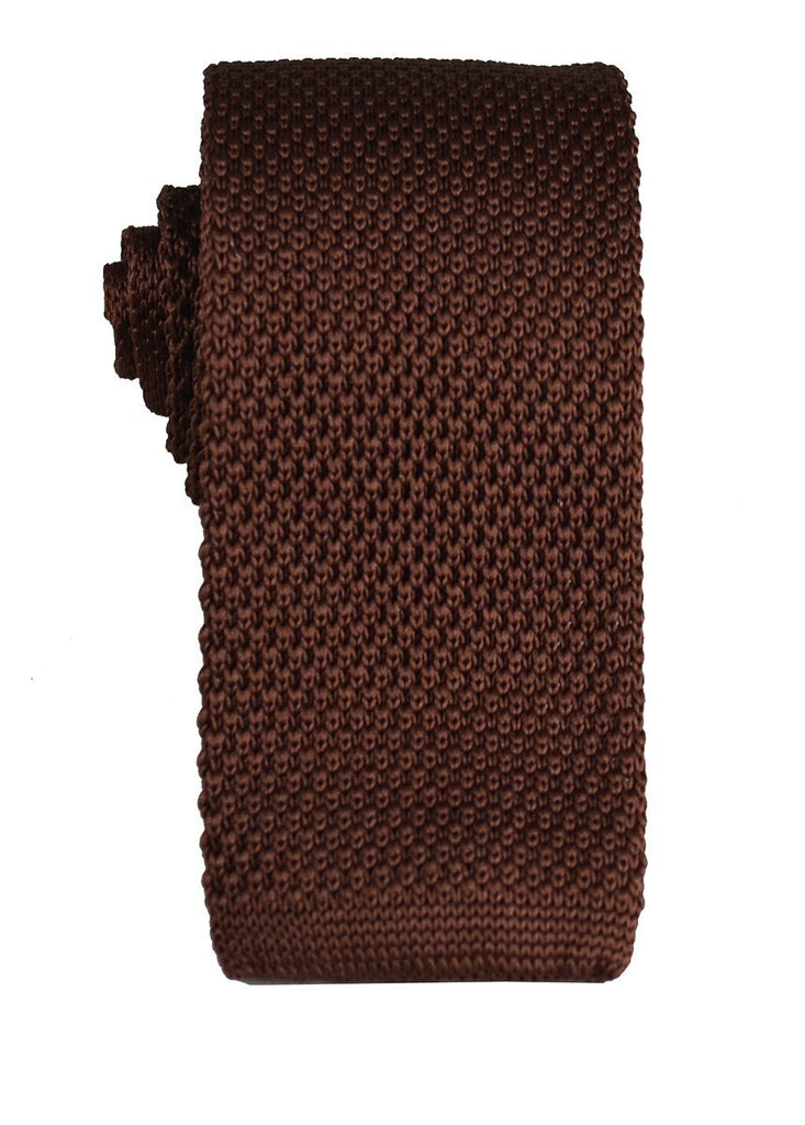 Solid Brown Knit Tie by Paul Malone Paul Malone Ties - Paul Malone.com