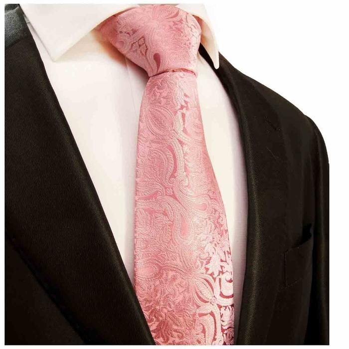 Silk Necktie Set by Paul Malone . Pink Paisley Ties Paul Malone