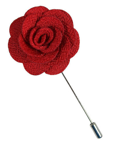 Red Lapel Flower Paul Malone Lapel Flower - Paul Malone.com