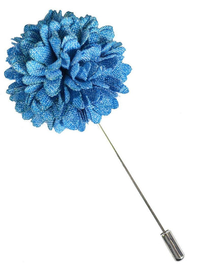 Sky Blue Lapel Flower Paul Malone Lapel Flower - Paul Malone.com