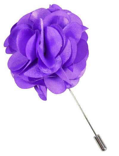 Solid Purple Lapel Flower Paul Malone Lapel Flower - Paul Malone.com