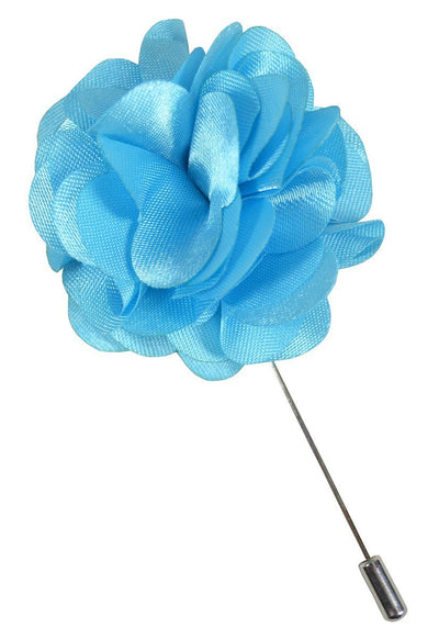 Solid Sky Blue Lapel Flower Paul Malone Lapel Flower - Paul Malone.com