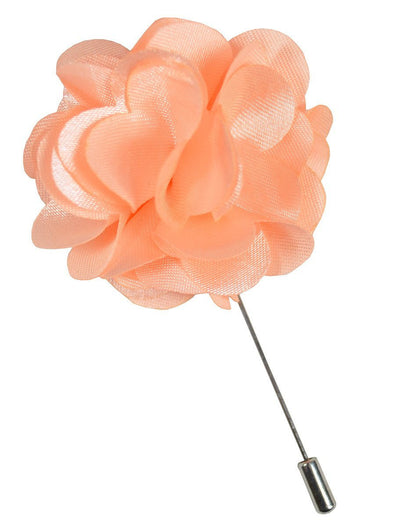 Solid Coral Lapel Flower Paul Malone Lapel Flower - Paul Malone.com