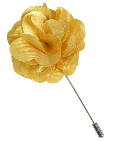 Solid Yellow Lapel Flower Paul Malone Lapel Flower - Paul Malone.com
