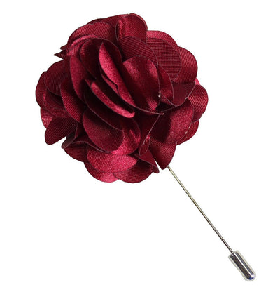 Solid Burgundy Lapel Flower Paul Malone Lapel Flower - Paul Malone.com