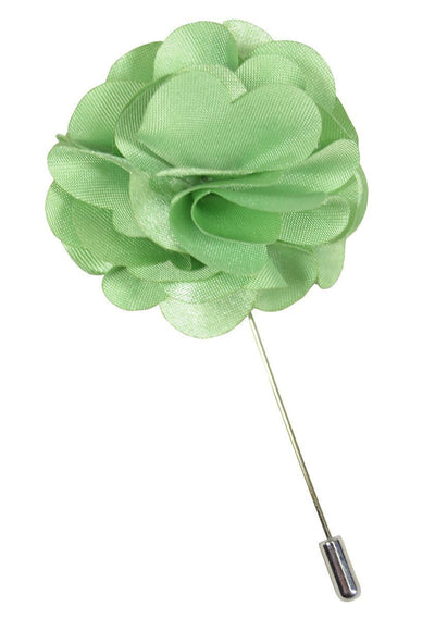 Solid Mint Lapel Flower Paul Malone Lapel Flower - Paul Malone.com