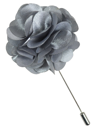 Solid Silver Lapel Flower Paul Malone Lapel Flower - Paul Malone.com