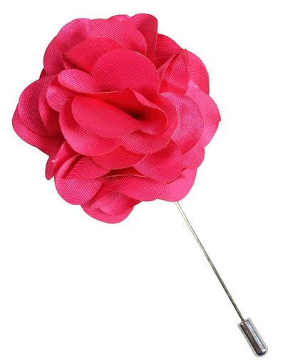 Solid Pink Lapel Flower Paul Malone Lapel Flower - Paul Malone.com