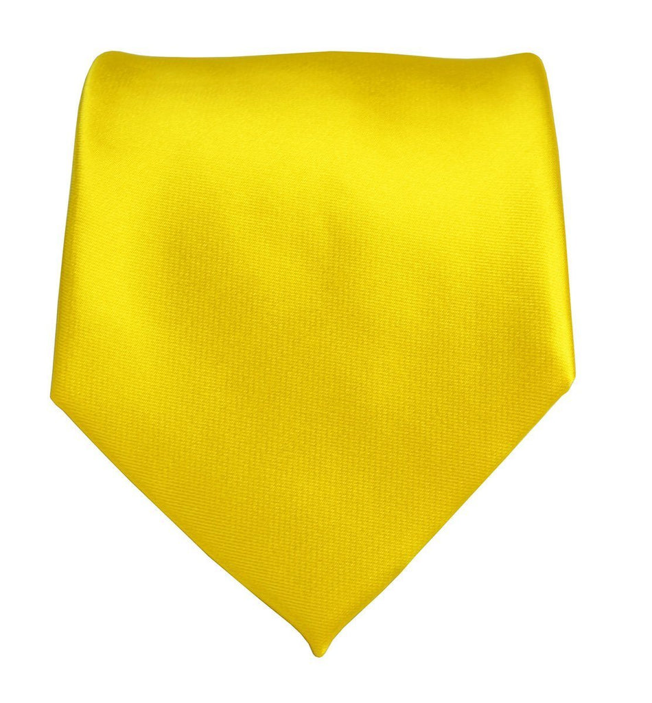 Solid Yellow Boys Zipper Tie Brand Q Ties - Paul Malone.com