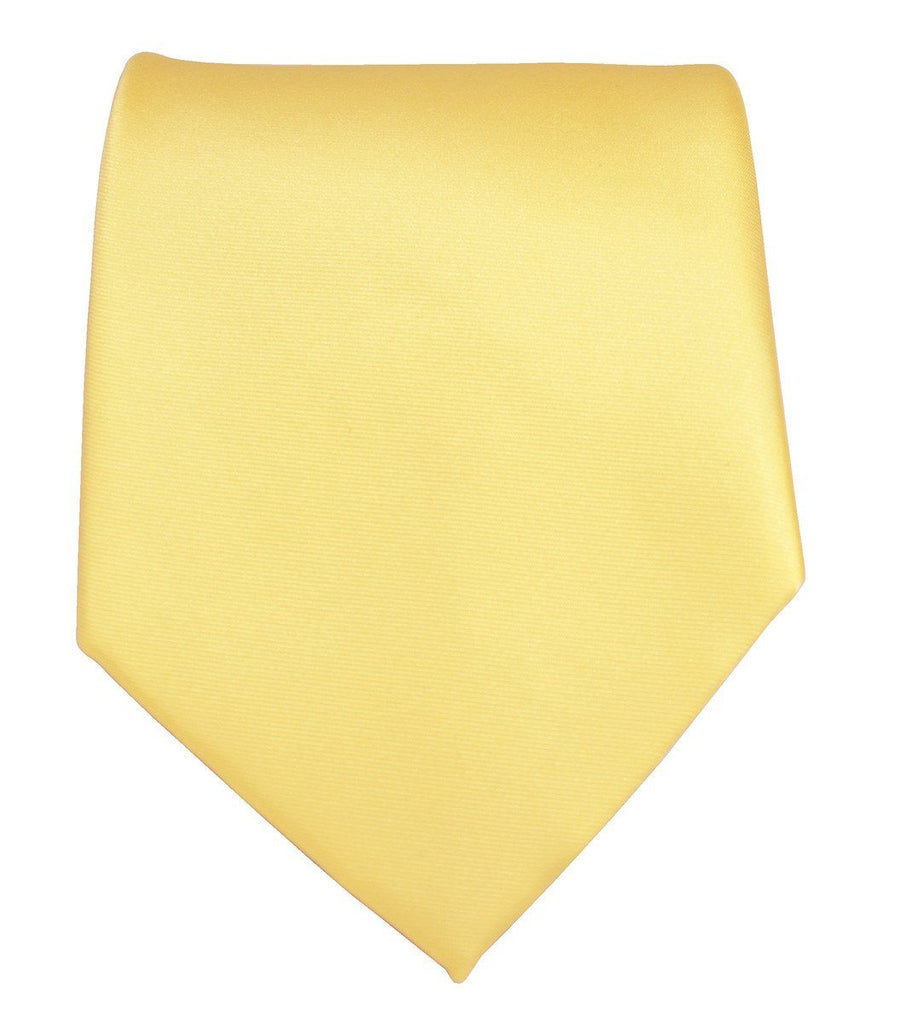 Solid Yellow Necktie and Pocket Square Paul Malone Ties - Paul Malone.com