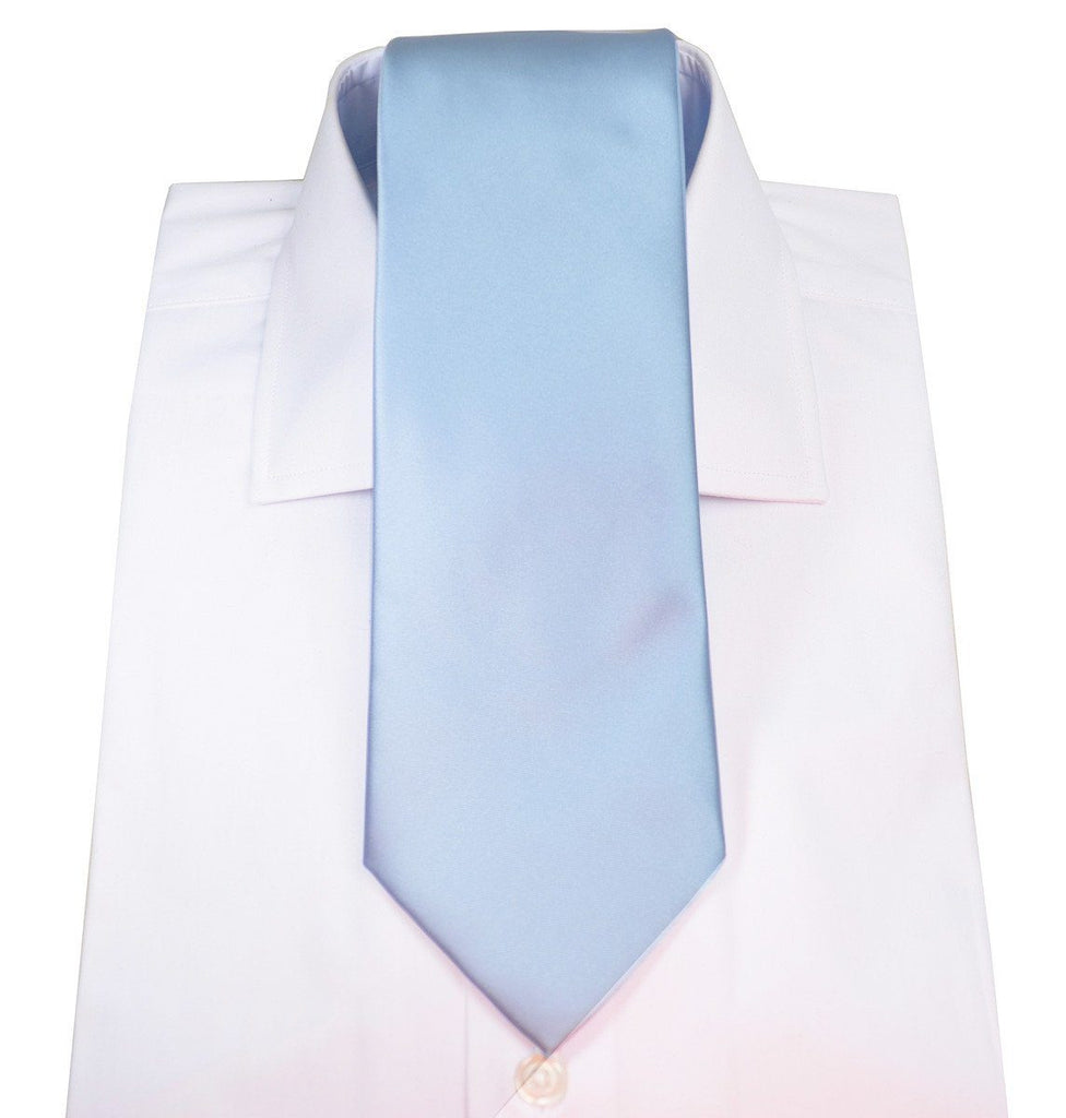 Baby Blue Necktie and Pocket Square Ties Paul Malone