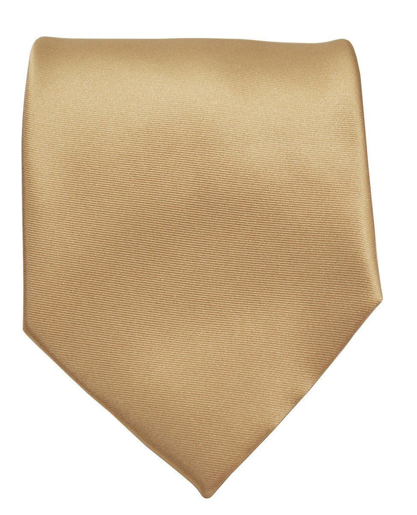 Solid Tan Necktie and Pocket Square Paul Malone Ties - Paul Malone.com
