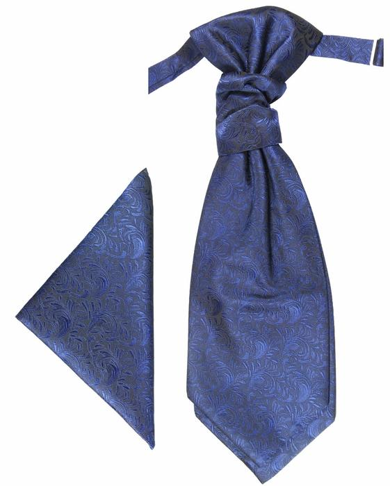 Royal Blue Cravat and Pocket Square Set Paul Malone