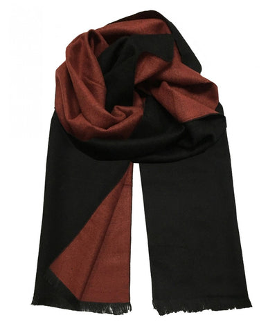 Rust and Chocolate Wool Felt Scarf Paul Malone Scarves - Paul Malone.com