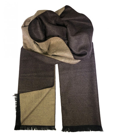 Camel and Brown Wool Felt Scarf Paul Malone Scarves - Paul Malone.com