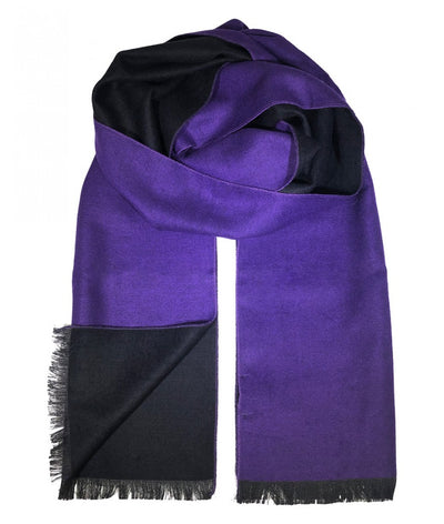Purple and Black Wool Felt Scarf Paul Malone Scarves - Paul Malone.com